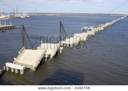 Hurrican Damaged Bridge