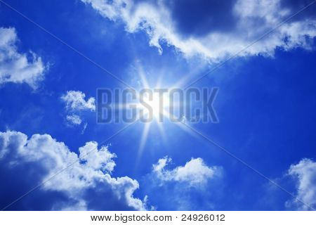 Blue Sky Sun Clouds