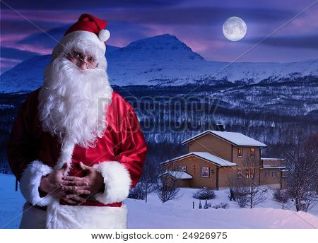 Portrait of Santa Claus at the North Pole