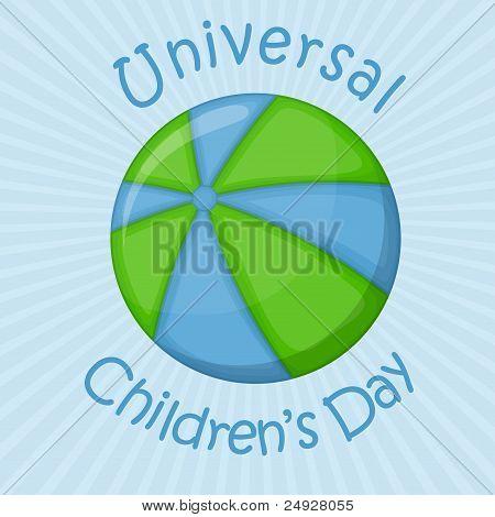 Ball planet, universal children's day