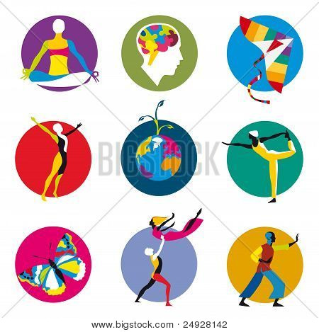 Human development icons