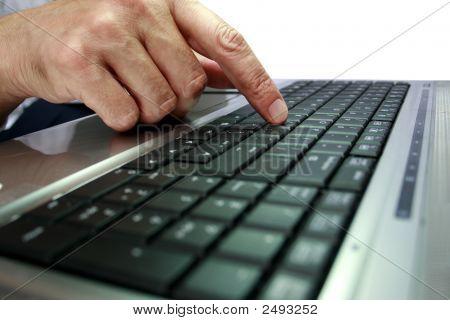 Fingers Of A Modern Laptop