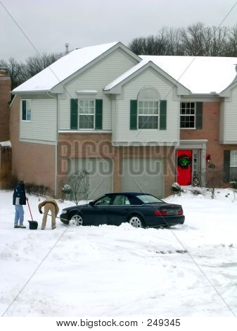 Winter Snow Shoveling