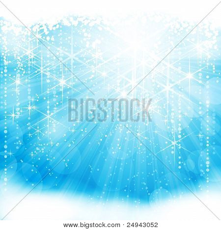 Abstract light blue festive background