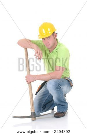 Troubled Construction Worker
