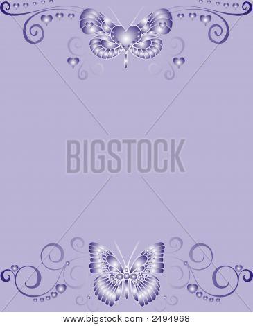 Violet Buttefly Frame