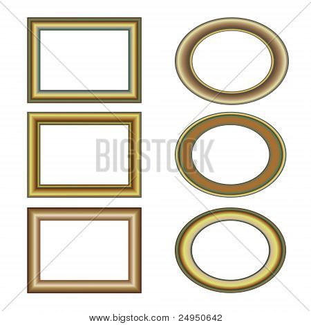 gold bronze frame set pattern