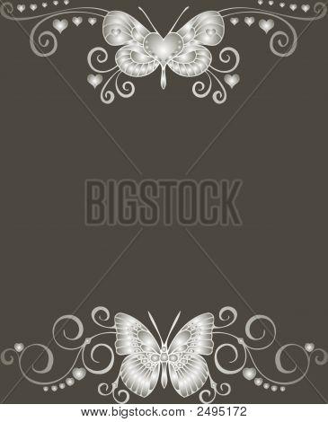 Cute Butterfly Card - Vector