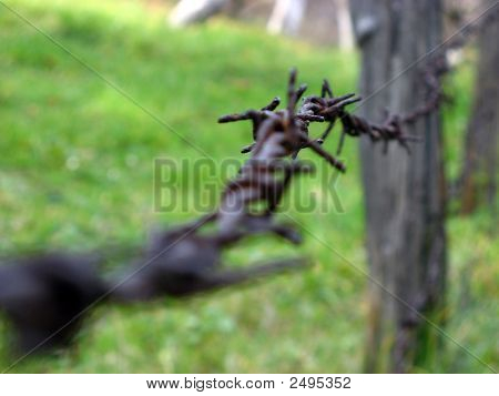 Barbed Wire Guard Railing 2