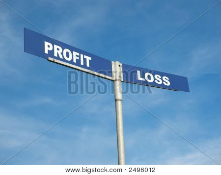 Profit And Loss Signpost