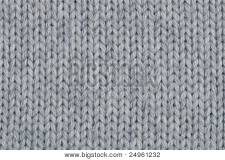 Close-up of knitted wool texture.