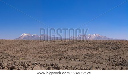 Peruvian Highland Plains And Mountains