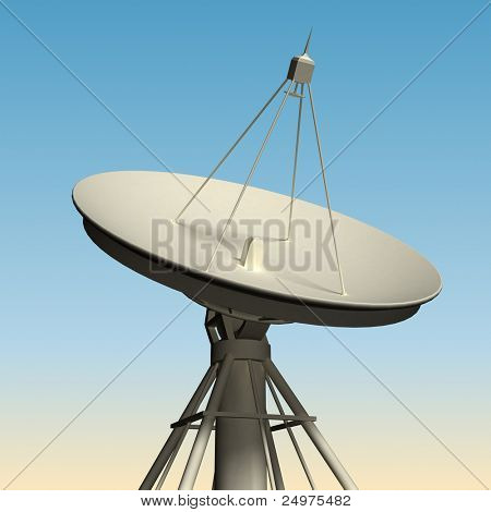 Radio  telescope. Includes clipping path.