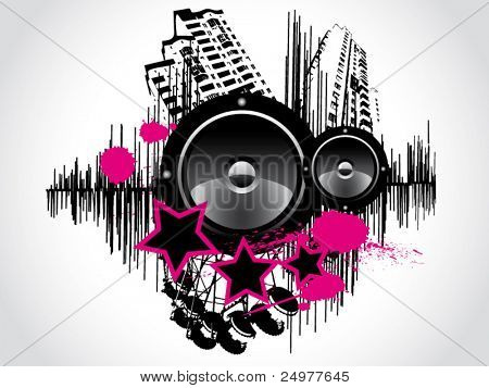 Vector Grunge Sound Background. eps 1