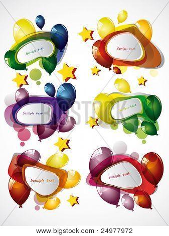 globos y burbujas de discurso