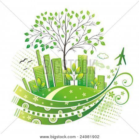 Cidade verde.