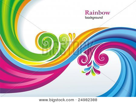 Colorful rainbow background.