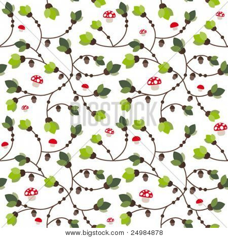 Seamless Autumn leaf pattern in vector