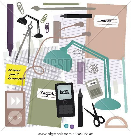School and office products in vector