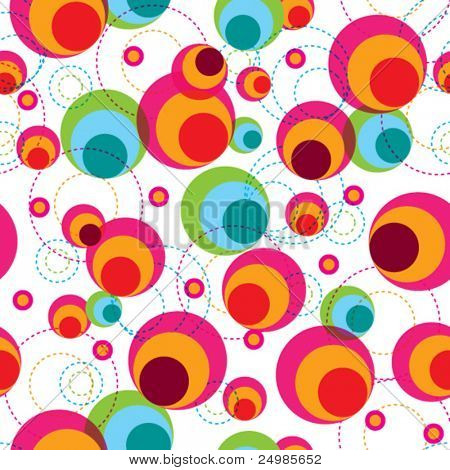 Seamless retro pattern background in vector