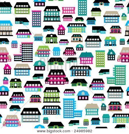 Seamless home house warming background pattern in vector