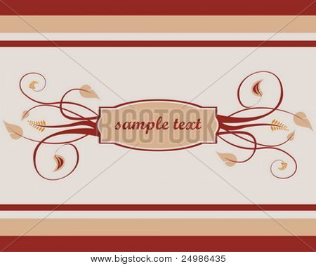autumn floral theme with space for text