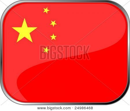 China flag icon with official coloring