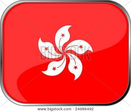 Hong Kong flag icon with official coloring