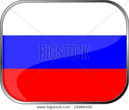Russia flag icon with official coloring