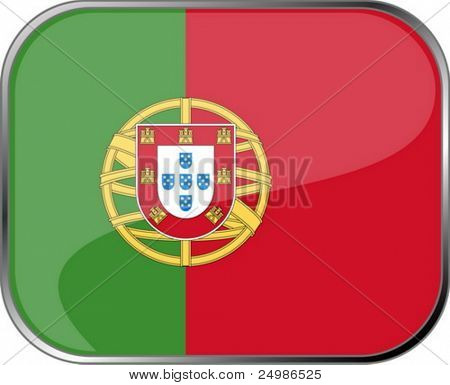 Portugal flag icon with official coloring