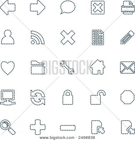Stitched Web Icons