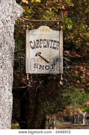Carpenter Shop Sign