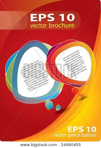 Modern brochure vector cover / background composition