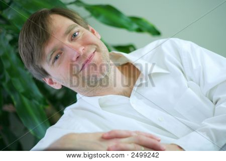 Handsome Businessman Relaxing