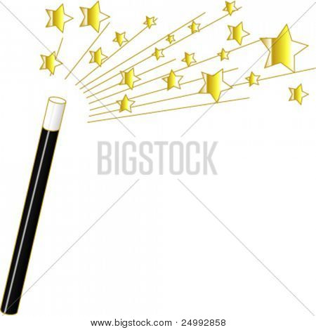 Vector Magic Wand and Stars