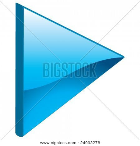 Vector Play Media Arrow Next Forward Continue - 3D Glossy Icon