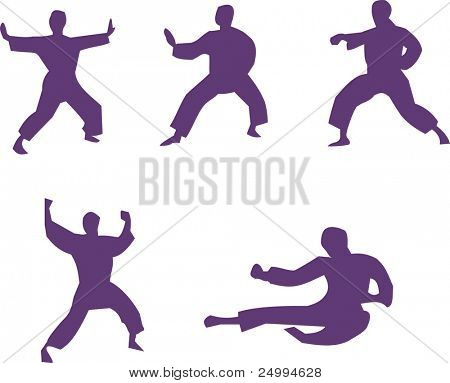 martial arts silhouettes