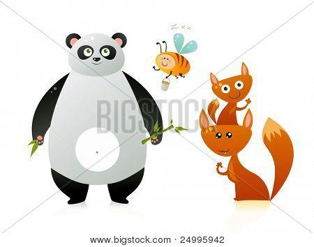 Cute cartoonish animals