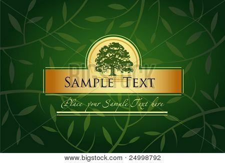 Label or menu cover