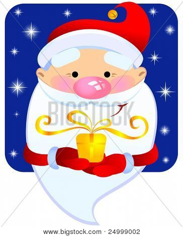 Santa con un regalo