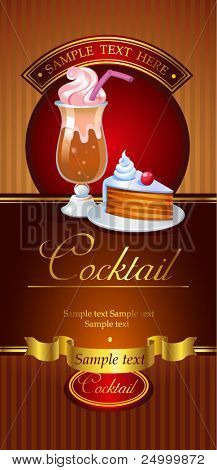 Cocktail vector banner