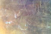 Abstract Background Of Uneven Plaster. Unusual Color Transitions, Empty Space. Texture Of Putty. poster