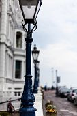 Light Post On The Road. Street Light Post. Street Lamp On The Road. Cast Iron Street Lamp. Designer  poster