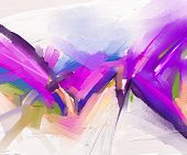 Abstract Colorful Oil Painting On Canvas Texture. Hand Drawn Brush Stroke, Oil Color Paintings Backg poster