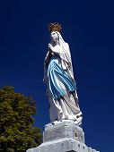 foto of atonement  - statue of the Virgin Mary in Lourdes France - JPG