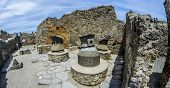 Ancient Baker In Pompeii, Mills To Produce Flour In Ancient Rome. Pompeii Was Destroyed By The Catra poster
