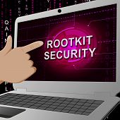 Rootkit Security Data Hacking Protection 3D Illustration poster