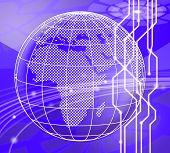 Botnet Illegal Scam Network Fraud 3D Illustration poster