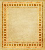 Decorative Ethnic Border On A Piece Of Parchment. Native Americans Style. poster