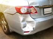 Car Crash Accident On The Road, Car Accident For Insurance. poster